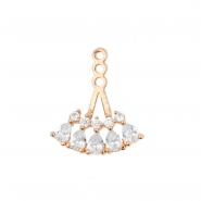 Earring Jacket - Teardrop Fan
