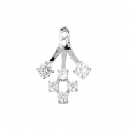 Earring Jacket - Crystal Cluster