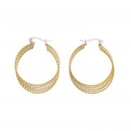 Duotone Braided Earrings