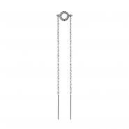 Jewelled Double Chain Earrings