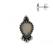Earstuds with Opal Inlay