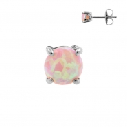 Earstuds with prong set Opal
