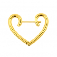 Click Hoop Earrings - Heart