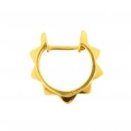 Click Hoop Earrings - Pyramids