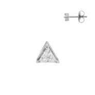 Zirconia Triangle Ear Studs