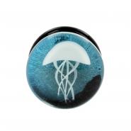 Dichroic Glass Jellyfish Plug