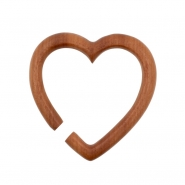 Sawo Wood Heart Hoops