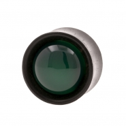 Stone Inlay Wood Plugs - Ironwood & Green Agate