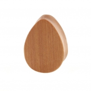 Sawo Wood Teardrop Plug - Flat