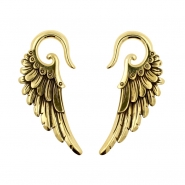 Brass Ear Weights Angel Wings