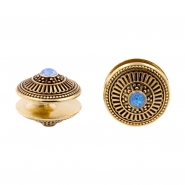 Brass Opal Disc Ear Weights