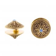 Brass Opal Disc Ear Weights - Star