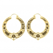 Brass Hoops - Opal Star