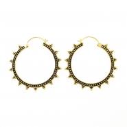 Brass Hoops - Triple Dots