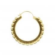 Brass Hoops - Swarovski Crystal