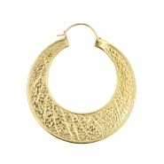 Brass Hoops - Textured