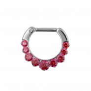 Septum Clicker with Swarovski Zirconia
