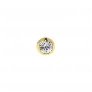 Gold Zirconia Threaded Ball