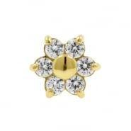 Gold And Zirconia Flower