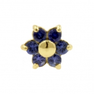 Gold And Sapphire Flower