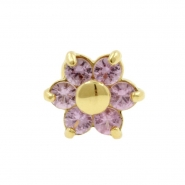Gold And Pink Sapphire Flower