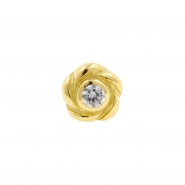 Gold Swarovski Zirconia Rose