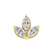 Gold Marquise Zirconia Cluster