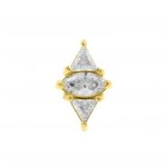 Gold Swarovski Zirconia Marquise Diamond