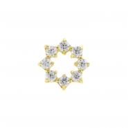 Gold Swarovski Zirconia Gemmed Ring