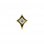 Gold Swarovski Zirconia Dotted Star