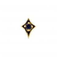 Gold Swarovski Zirconia And Topaz Dotted Star