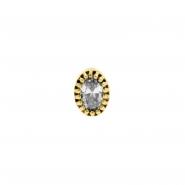 Gold Swarovski Zirconia Vintage Oval