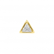Gold Swarovski Zirconia Triangle