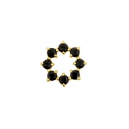 Gold Click Ring Charm - Zirconia Gemmed Ring
