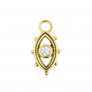 Gold Click Ring Charm - Zirconia Eye