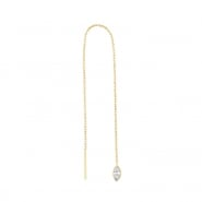 Gold Chain Earrings - Zirconia Marquise