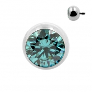 Titanium Ball With Swarovski Zirconia