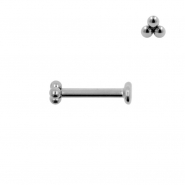 Internally Threaded Labret Stud - Triple Dots