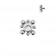 Titanium Swarovski Cluster