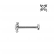 Titanium Swarovski Cluster Labret