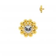 Titanium Swarovski Cluster - Gold