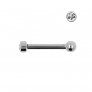 Titanium Mini Barbell With 2,5mm Jewelled Disc