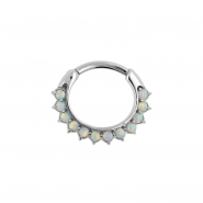 Opal Sunflower Ring