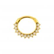Opal Sunflower Ring