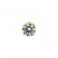 Gold Swarovski Zirconia Attachment - Threadless