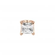 Rose Gold Zirconia Square - Threadless