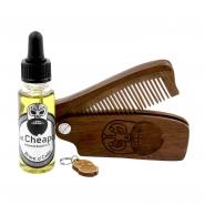Beard Care Kit Oil & Comb - Brave 'O' Cado