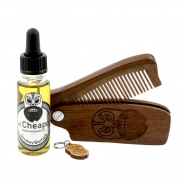 Beard Care Kit Oil & Comb - Smokey Bastard