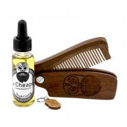 Beard Care Kit Oil & Comb - Tough Cookie