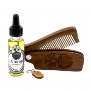 Beard Care Kit Oil & Comb - Woody Wood Smasher